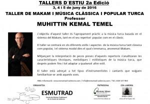 Taller de Makam i música turca - Muhittin Kemal